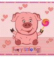 Funny little pig pattern vector image vector image