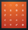 universal glyphs 13 phone symbols 2 vector image vector image