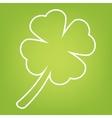 Leaf clover line icon vector image