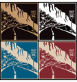 Winding mountain road vector image