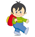 boy school vector image
