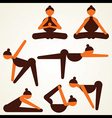 different yoga pose stock vector image