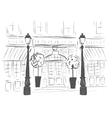 european boutique or restaurant vector image