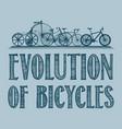 evolution of transport poster vector image