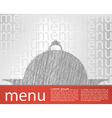 food tray menu template vector image