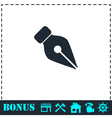 Fountain pen icon flat vector image
