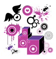 Hip hop style background vector image