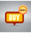 icon with the word buy vector image