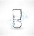 refrigerator grunge icon vector image