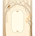 Autumn forest banner vector image vector image