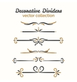 Flourish elements Hand drawn dividers set vector image