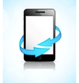 Phone with arrows vector image vector image