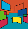 Abstract background squares vector image
