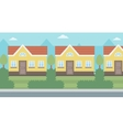 Background of suburban house vector image