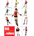 Rollerskating Girls vector image
