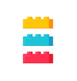 blocks construction toys flat vector image