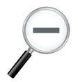 Magnifier Zoom Out vector image