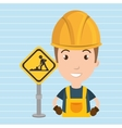 man worker construction vector image