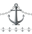 Seamless steel fence featuring an anchor vector image