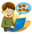 social network boy vector image
