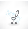 Office chair grunge icon vector image vector image