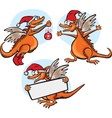 funny cartoon dragon vector image