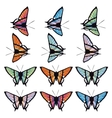 Set of butterflies isolated on white background vector image vector image