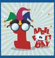 april fools day celebration image vector image