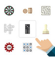 flat icon games set of pawn arrow poker and vector image