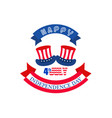 happy independence day with top hat made of united vector image