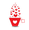 Heart pot card Valentines Day vector image