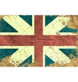 Vintage English flag vector image