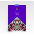 violet colour decorative sheet of paper vector image