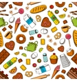 Daily breakfast meal seamless background vector image