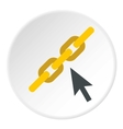 Chain icon flat style vector image