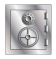 Metallic safe for storage of valuables vector image
