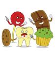 Tooth enemies cartoon vector image