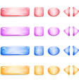 Shiny glass buttons of different shapes for games vector image