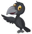 cartoon crow waving vector image