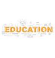 design concept of word education website banner vector image