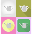 garden tools flat icons 04 vector image