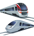 High speed trains isolatetd on white background vector image
