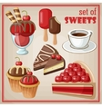 Set of sweets vector image