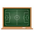 Soccer field drawn on a blackboard vector image