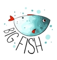 turquoise fish vector image