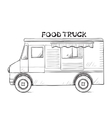 Hand drawn food truck vector image