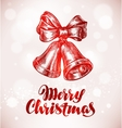 Merry Christmas Jingle bells with bow Sketch vector image vector image