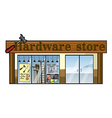 A hardware store vector image