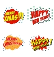 Set of comic style phrases for xmas Cartoon style vector image vector image
