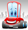 cheerful red car vector image vector image